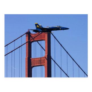 Blue Angels flyby during 2006 Fleet Week 3 Postcard