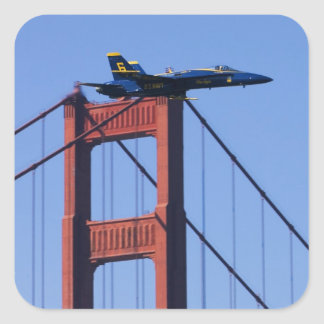 Blue Angels flyby during 2006 Fleet Week 3 Square Sticker