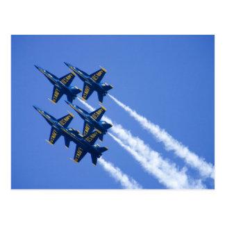 Blue Angels flyby during 2006 Fleet Week Postcard