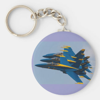 Blue Angels Formation Basic Round Button Key Ring