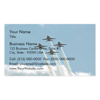 Blue angels in air show business cards