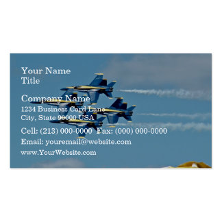 Blue angels in air show business card template