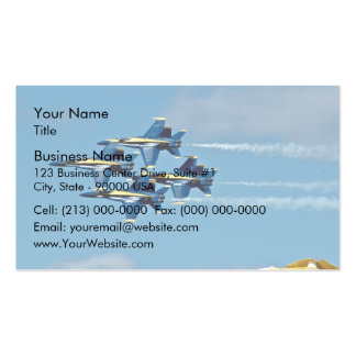 Blue angels in air show business card
