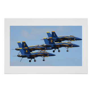 Blue Angels in Formation Poster