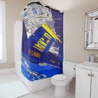 blue angels inverted shower curtain