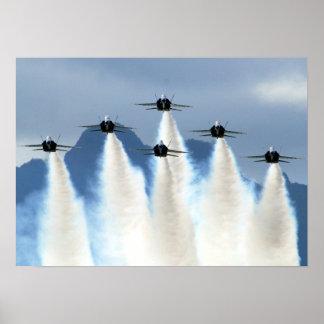 Blue_Angels_on_Delta_Formation Poster