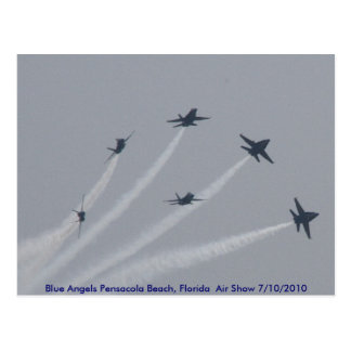BLUE ANGELS Pensacola Beach, Florida Air Show Postcard