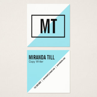 Blue Angle Geometric Business Card