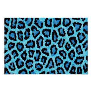 Blue animal print