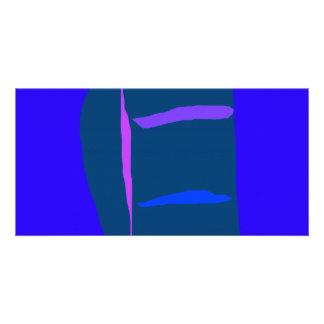 Blue Anime Robot Liquid Economy Dry Wind Personalized Photo Card