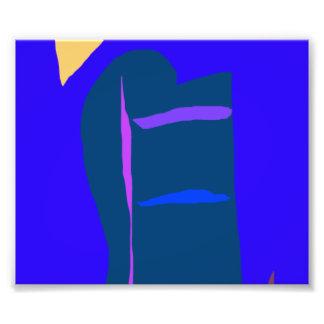 Blue Anime Robot Liquid Economy Dry Wind Photo Print