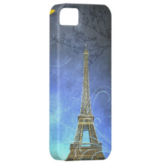 Blue Antique Eiffel Tower iPhone Case iPhone 5 Cover