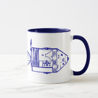 "Blue ""APOLLO CM/MISSION PLAN"" Mug"