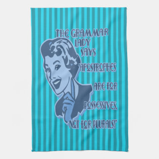 Blue Apostrophes Kitchen Towels
