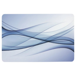 Blue Aqua Abstract Floor Mat
