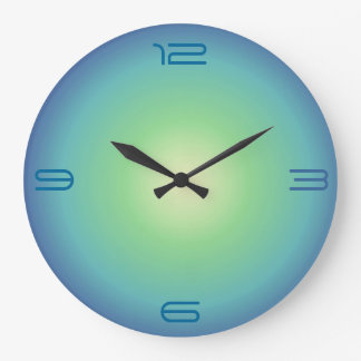 Blue aqua Green>Colored Kitchen Clock