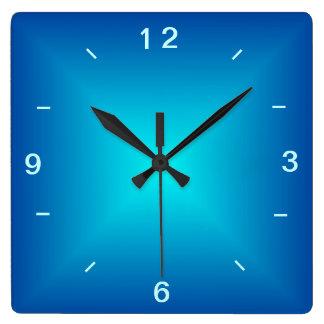Blue Aqua Illuminated Design > Plain Wall Clock