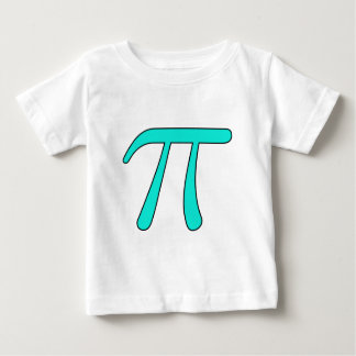 Blue Aqua Pink Hot Baby Light Pi 3.14 symbol Math Baby T-Shirt