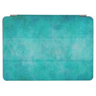 Blue Aqua Teal Watercolor Paper Colorful Texture iPad Air Cover