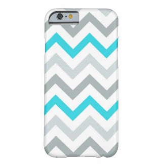 Blue/Aqua Tri Tone Chevron iPhone 6 case Barely There iPhone 6 Case