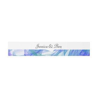 Blue & Aqua Watercolor Wedding Belly Bands Invitation Belly Band