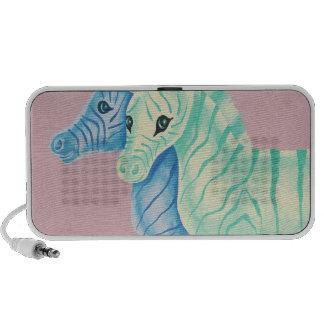 Blue & Aqua Zebras Mini Speakers