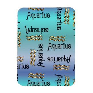 Blue Aquarius, Sign of the Zodiac. Rectangular Photo Magnet