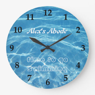 Blue Aquatic Fresh Pool Water Swimming Clear Cool Large Clock