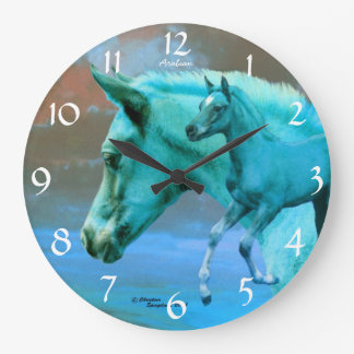 Blue Arabian Horse Foal Wall Clock