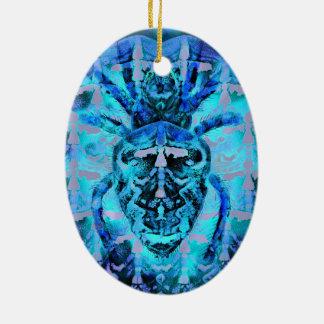 Blue Arachnid Ceramic Ornament