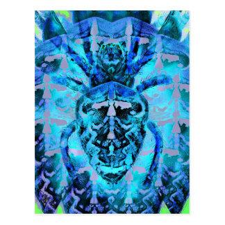 Blue Arachnids Postcard