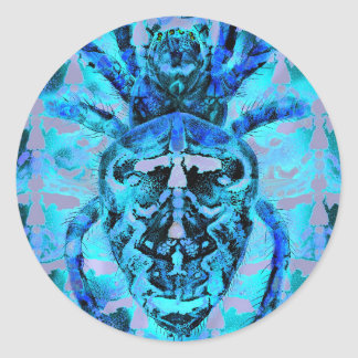 Blue Arachnids Round Sticker
