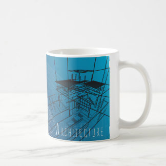 Blue Architecture Blueprint Mug