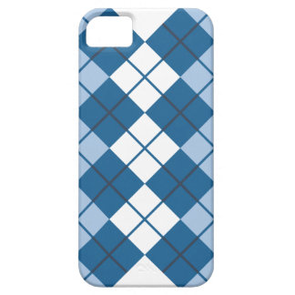 Blue Argyle Design Cover For iPhone 5/5S
