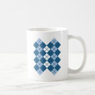 Blue Argyle Design Coffee Mug