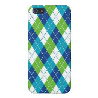 Blue Argyle iPhone Case iPhone 5 Case