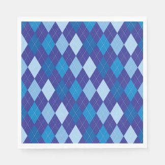 Blue argyle pattern disposable napkin