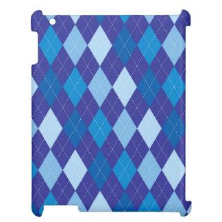 Blue argyle pattern iPad cases