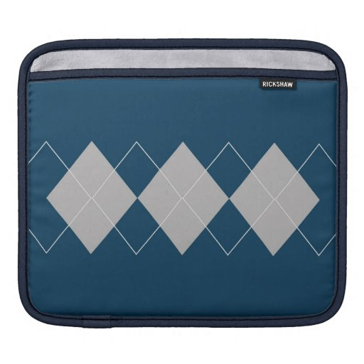blue argyle pattern sleeves for iPads