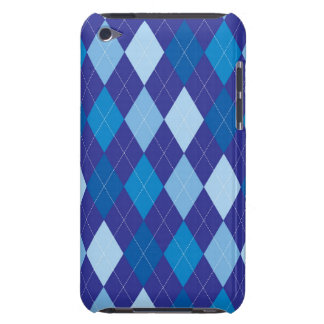 Blue argyle pattern iPod touch cover
