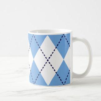 Blue Argyle Pattern Mug