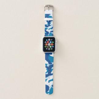Blue army apple watch band