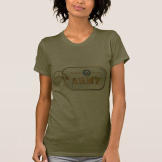 Blue Army Sister Dog Tag T Shirts