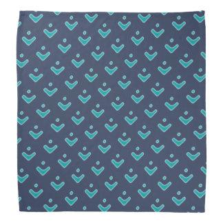 Blue Arrow Pattern Bandana