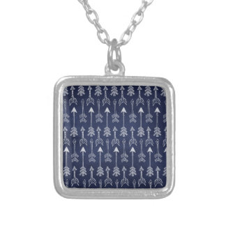 Blue Arrow Silver Plated Necklace