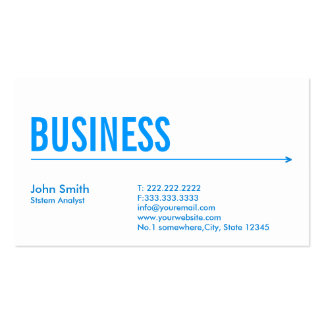 Blue Arrow System Analyst Business Card