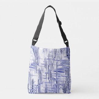 Blue Art Deco Crossbody Bag