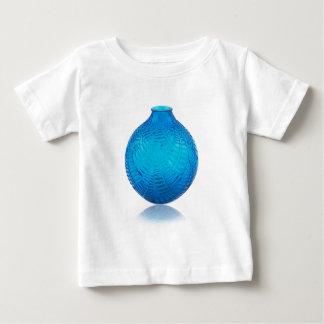 Blue Art Deco glass etched vase. . Baby T-Shirt