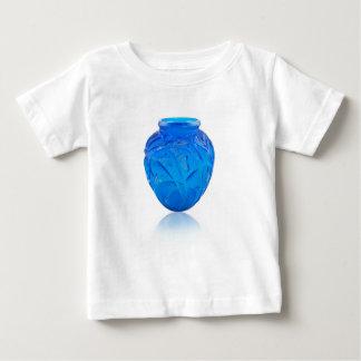 Blue Art Deco glass vase with grasshopper design. Baby T-Shirt