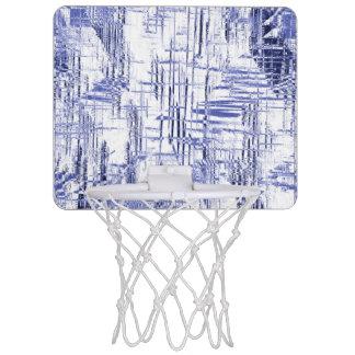 Blue Art Deco Mini Basketball Hoop